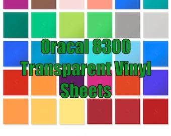 "12"" x 12"" Oracal 8300 Transparent Vinyl Sheets"