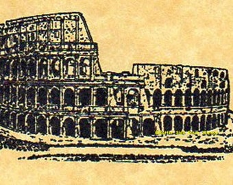 Roman Colosseum Rubber Stamp