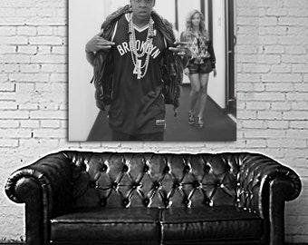 08 Poster Jay Z Canvas & Stretcher Bars Frame