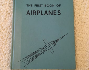 Airplane Book, Childrens Book, Vintage Childrens Books, Airplane Books for Kids, Childrens Airplane Book