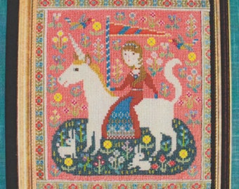 Modern Cross Stitch Pattern | Gera! Counted Cross Stitch Pattern by Kyoko Maruoka - The Lady and the Unicorn