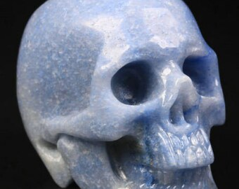 Blue Aventurine Carved Skull  #037