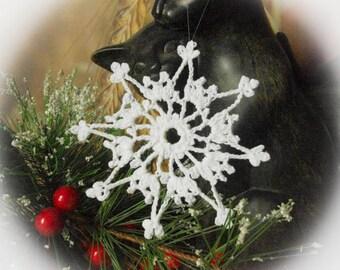 Crochet snowflakes Christmas snowflake ornaments White hanging ornaments Home decorations Winter wonderland White decor S15