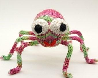 Speedy Spider Knitting Amigurumi Plush Toy Pattern Tutorial PDF Download