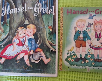 Hansel and Gretel - A  Little Golden Book plus Matching Playskool Vintage Puzzle