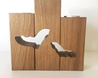 Wooden candleholder (oak)