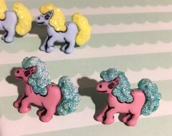 Pastel Pony Stud Earrings (3 colors)