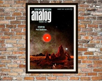 Sci fi Print Poster, Analog Vintage Magazine Print, Vintage Print, Dime Magazine, Analog Magazine Sci-Fi Art Item 0192