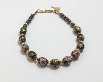 Cloisonne Beaded Bracelet