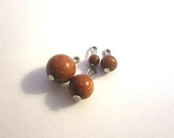 Set of 4 pendant Tiger eye beads