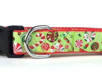 Holiday Candies Nylon Dog Collar