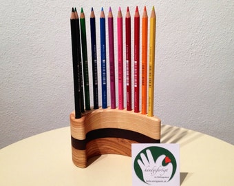 Stifhalter for 12 pins - Maple, Oak oiled - handmade