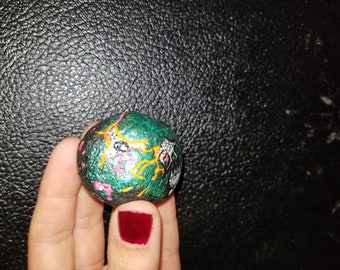 Holdgen the Tiny: Hand painted Dragon Egg - Eye glows!