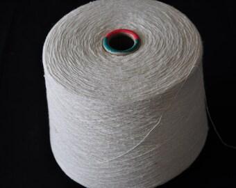 1 spool 0,7 kg 100 bourette silk yarn nature Nm 10/1 on paper cone 900 den
