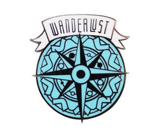Wanderlust Compass B&B Hard Enamel Pin