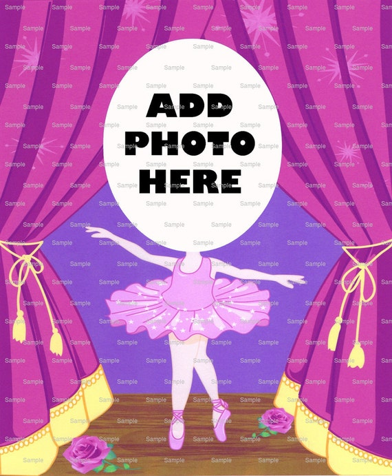 Pink Ballerina Birthday Cake Topper - Edible Cake and Cupcake Photo Frame For Birthdays and Parties! - D4664