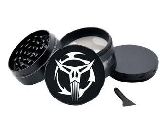Neo-Crusader STAR WARS Black Herb Grinder Engraved Metal Grinder Glass Windows Spice Grinder Tobacco Crusher Pot Head Gift Stoners