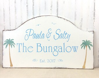 Florida getaway, retirement home sign,  snowbird retirement getaway, beach bungalow sign, custom sign, personalized sign