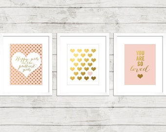 Pink And Gold Nursery Decor Dream Big Little One You Are So