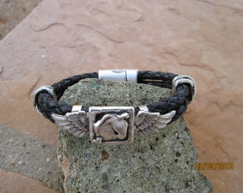 Winged horse head Bracelet