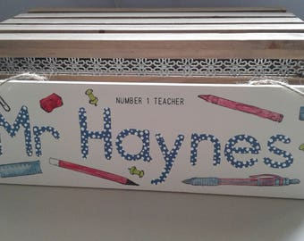 Personalised teacher wooden sign