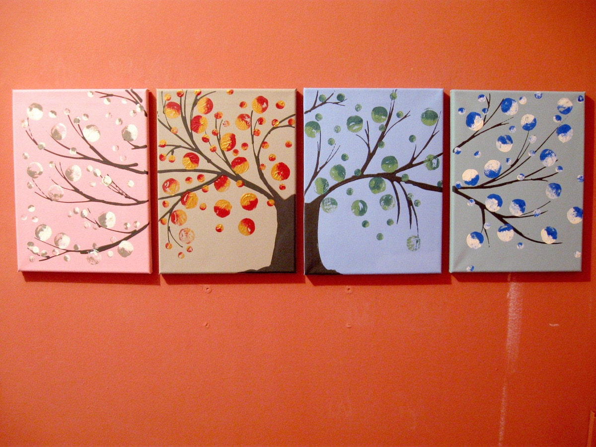 landscape tree of life painting canvas triptych large wall art. Black Bedroom Furniture Sets. Home Design Ideas