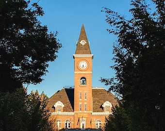Fayetteville Arkansas Downtown Courthouse At Sunset - Cityscape - Wall Art - Home Decor