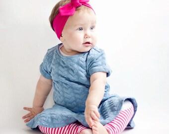 Baby Knot Headband, Baby Turban Headband, Baby Headwrap, Turban Headband, Toddler Knotted Headband, Baby Gift, Baby - Solid Fuchsia