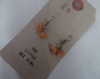 Gold Polymer Clay Butterfly earrings