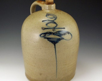 "19th Century Salt Glazed ""Bee-Stinger"" 3 Gallon Jug SHIPPING INCLUDED"