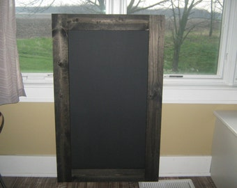 Rustic chalkboard, extra large.  Ebony stained, 40 x 25 inches.