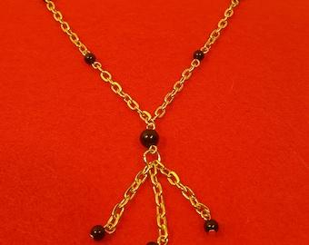 Black Jasper Dangle Necklace