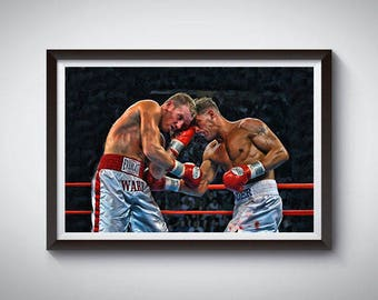 Boxing Fighting Inspired Art Poster Painting Print