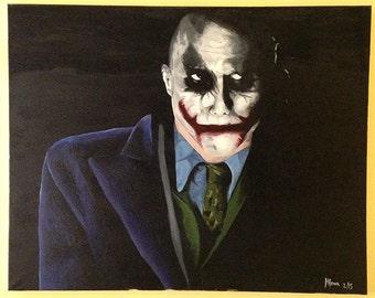 Joker Original Oil Painting