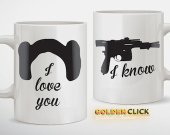 I Love You I know Coffee Mug Set
