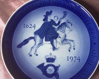 Royal Copenhagen Mail Plate 1624 -1974