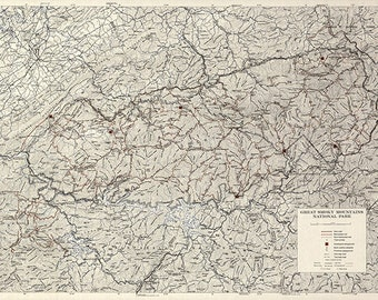 Great smoky map Etsy