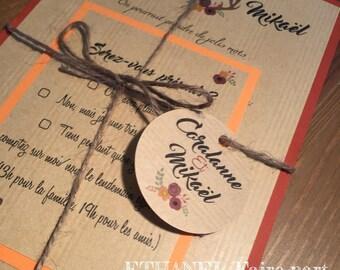 Sweet autumn - set of 10 wedding invitations