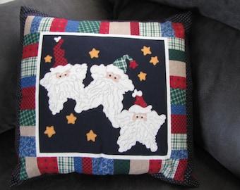Christmas Santa pillow Cover 16 x 16 Travel Home decor Toddler
