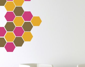Honeycomb Wall Decals, Bee Wall Decals, Vinyl Wall Decals, Childrens Wall Decals, Hexagon Wall Decals, Honeycomb Wall Art
