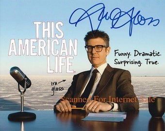Ira Glass (Signed Press Photo) This American Life ~ NPR,