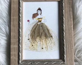 Disney Beauty and the Beast Belle framed art