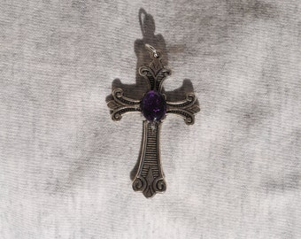 Amethyst Cross Pendant