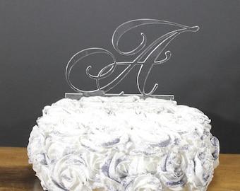 Wedding Cake Topper/Monogram/Letter/Initial/Cake Decor/Top for Cake/Cake Decoration/Hand Lettered Style