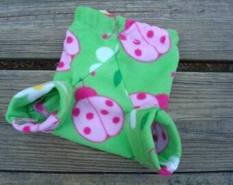 New Fleece Shortie Soakers - Newborn Girls Diaper Cover - Melissa 610