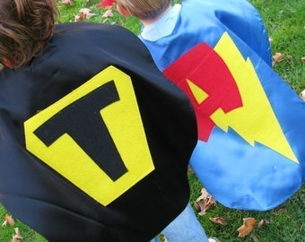 Personalized 2 Superhero Capes kids cape Party Favors