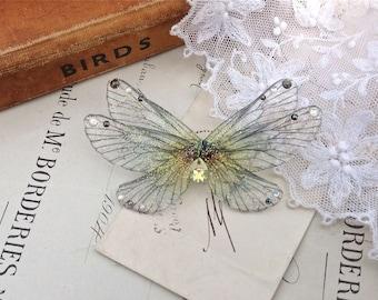 Pretty rainbow Faerie wing Small Brooch