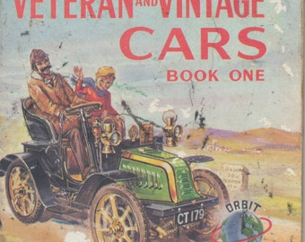 Vintage book - Veteran and Vintage Cars - mini book