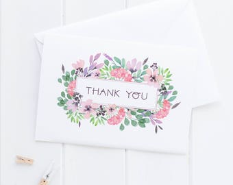 Floral Thank You Card Packs