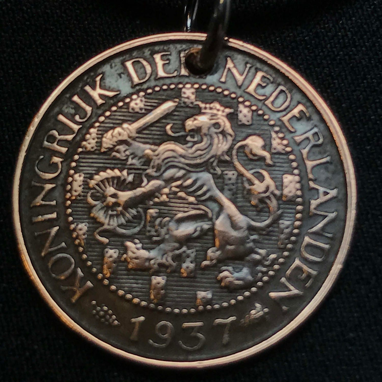 Coin Necklace Netherlands Jewelry Dutch Pendant Cent Art